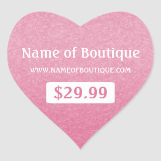Simple Chic Pink Boutique Retail Sales Price Tags
