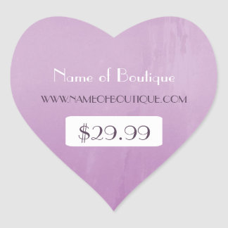 Simple Chic Purple Boutique Retail Price Tags