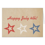 Simple Chic Stars July 4th Greeting Card