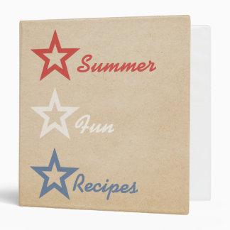 Simple Chic Stars July 4th Recipe Binder, 1.5 inch