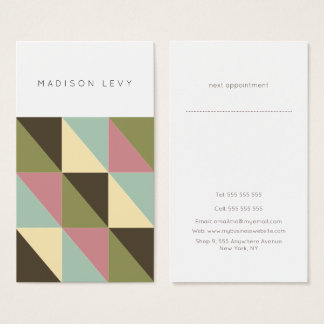 Simple Chic Triangle Pattern Business Cards