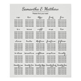 Simple & Chic Wedding -More Tables | Seating Chart