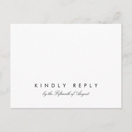 Simple Chic Wedding Rsvp Postcard