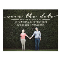 Simple Chic Wedding Save the Date Photo Postcard