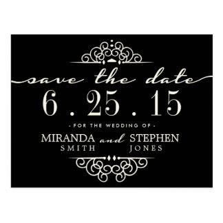 Simple Chic Wedding Save the Date Postcard
