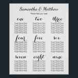 "Simple &amp; Chic Wedding | Seating Chart<br><div class=""desc"">A simple and chic wedding reception seating chart with a clear layout. Fill in the template with your name,  instructions,  and guest names,  then click &quot;Customize it!&quot; to change fonts,  font sizes,  font colors,  text positions,  and more! Congratulations,  and I wish you the best in your marriage!</div>"