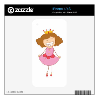 Simple child cartoon decals for iPhone 4