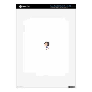 Simple child cartoon iPad 3 skin