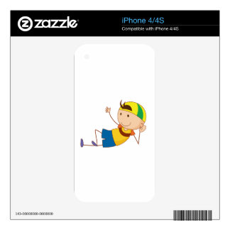 Simple child cartoon skins for the iPhone 4