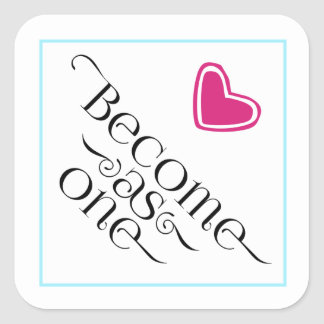 Simple Christian Become as One Pink Heart Sticker