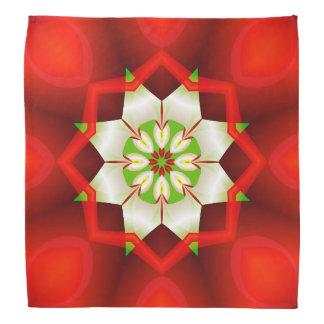 Simple Christmas Fractal Kaleidoscope Bandana
