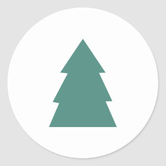 Simple Christmas Tree Classic Round Sticker