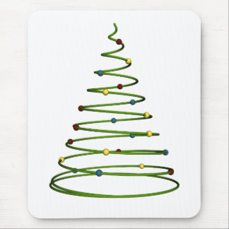 Simple Christmas Tree Design Mousepad
