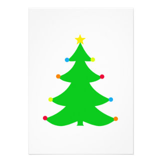 Simple Christmas Tree Party Invitation