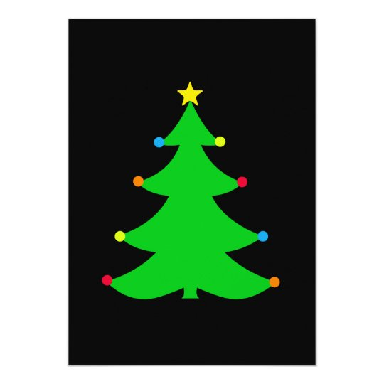 Simple Christmas Tree Party Invitation (dark)
