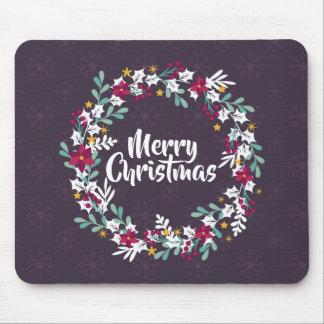 Simple Christmas Wreath Purple   Mousepad