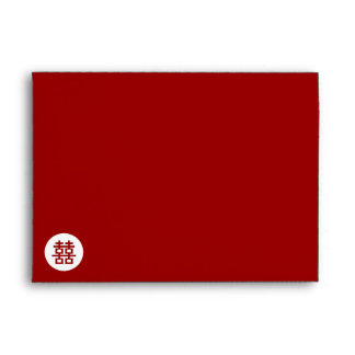 Simple Circle Double Happiness Chinese Wedding Envelope