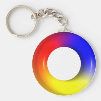 Simple Circle Red Yellow Blue #2 Keychains