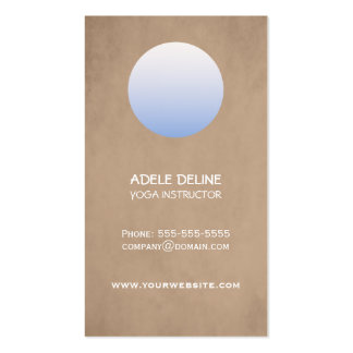 Simple Circle Textured Yoga Studio Double-Sided Standard Business Cards (Pack Of 100)