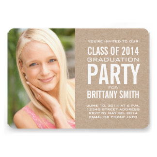 SIMPLE CLASS OF 2014 PARTY INVITATION