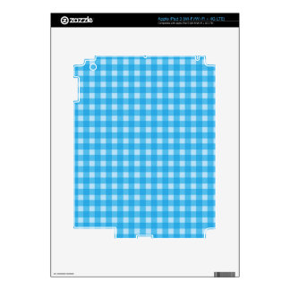 Simple, classic and elegant blue country plaid. decal for iPad 3