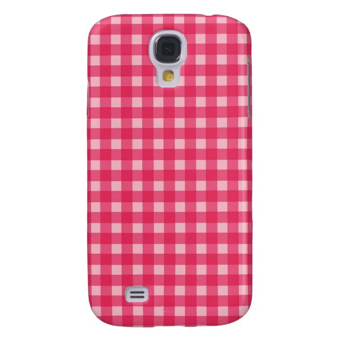 Simple, classic and elegant. Lucky pink plaids Samsung Galaxy S4 Case