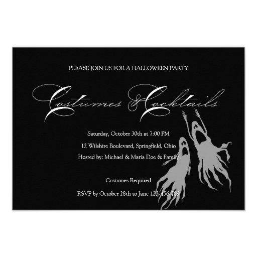 Simple & Classic Halloween Costume Party Custom Invites