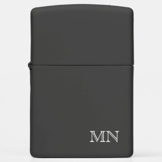 Simple Classic Masculine Monogram Zippo Lighter