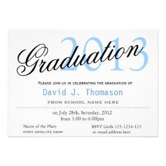SImple, classic,stylish graduation announcment Personalized Announcements