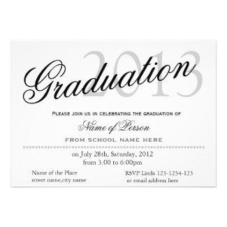 Simple, classic,stylish graduation announcment custom invites
