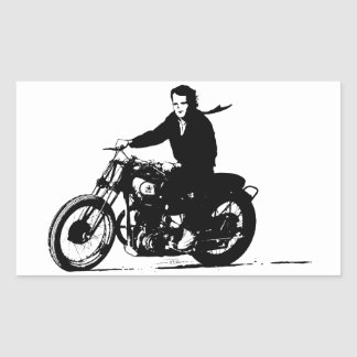 Simple Classic Vintage Motorcycle Rectangular Sticker