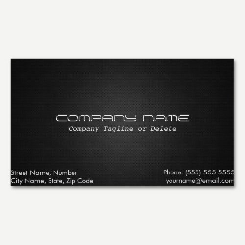 Simple & Classy Metallic Magnetic Business Card