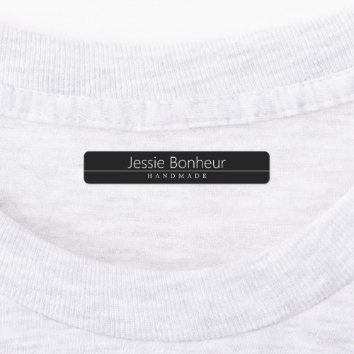 Simple Classy White Text on Black Labels