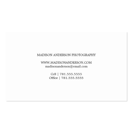 Simple & Clean 3 | Photography Business Cards (back side)