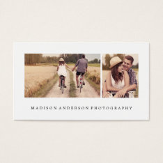 Simple & Clean 3 | Photography Business Cards at Zazzle