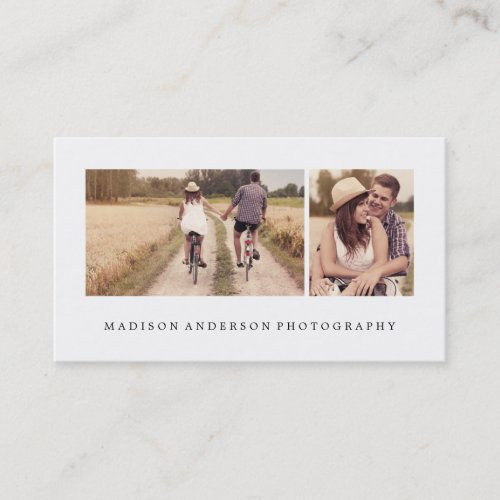 Simple  Clean 3  Photography Business Cards