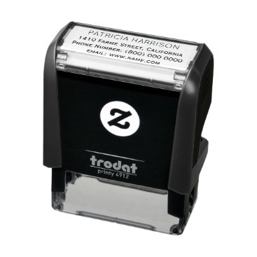 mixedworld simple & clean address information self-inking stamp