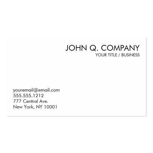 Simple Clean Basic Business Card - black and white : Zazzle