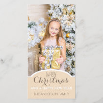Simple Clean Cream White Christmas Holiday Photo