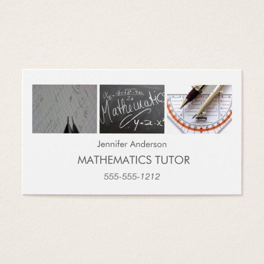 Simple clean mathematics math tutor photo collage business card simple clean mathematics math tutor photo collage business card colourmoves