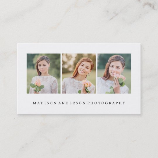 Simple clean photography business cards zazzle simple clean photography business cards reheart Gallery