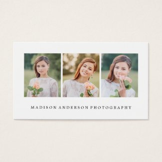 Simple & Clean | Photography Business Cards