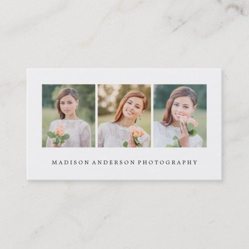 Simple  Clean  Photography Business Cards