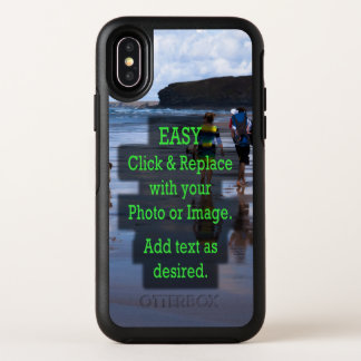 Simple Click & Replace Photo to Make Your Own OtterBox Symmetry iPhone X Case
