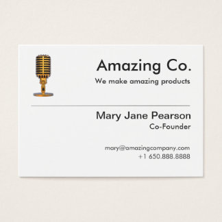 Simple Co-Founder & Founder Logo Professional Business Card