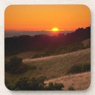 Simple coaster of beautiful California sunset