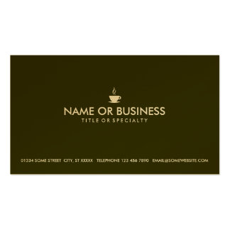 simple coffee business card