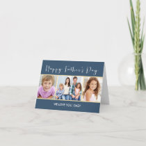 Simple Collage Fathers Day Photo Card