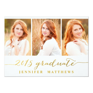 "Simple Collage | Graduation Party Invitation 5"" X 7"" Invitation Card"