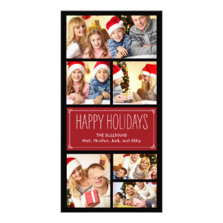 Simple Collage Holiday Photo Cards